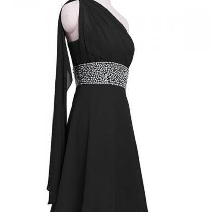 A-Line/Column Black Homecoming Dres..