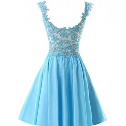 Chiffon Applique Homecoming Dresses..