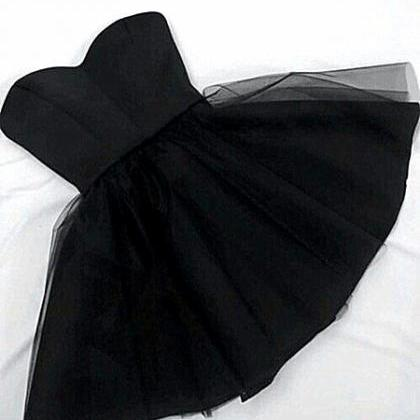 Homecoming Dress,Cute Black Prom Dr..