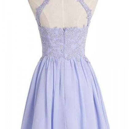 Lilac Prom Dresses open back Homeco..