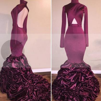 Cascading Backless Mermaid Taffeta ..