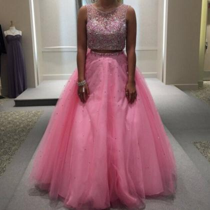 Beading Ball Gown Tulle Two Pieces ..