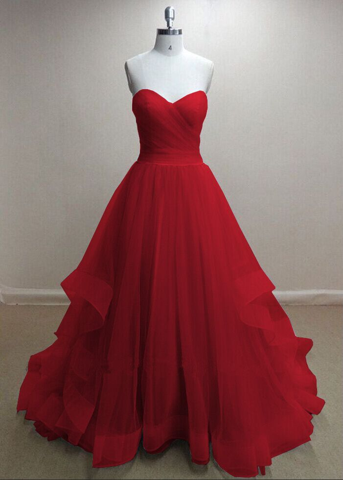 Tiers Party Dresses Floor Length Homecoming Dresses Zipper-Up Evening Dresses