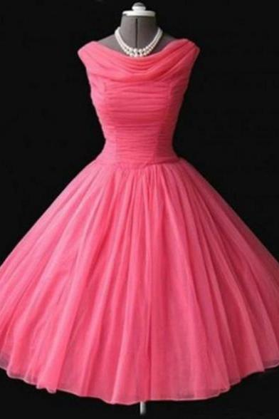 Sleeveless Formal Dress Cowl Short/Mini Tulle Pleated Zipper Outlet A-line Dress