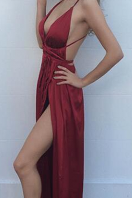 Evening Dresses, Prom Dresses,Party Dresses,New Arrival Prom Dress,Modest Prom Dress,Sexy Burgundy on Luulla