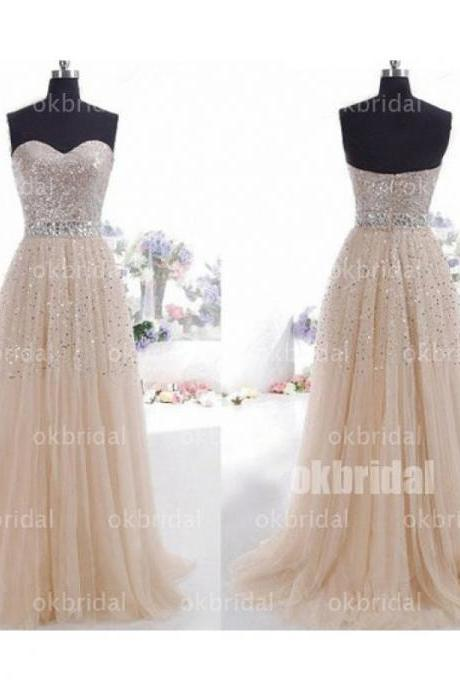 Tulle Prom Dress, Classic Prom Dress, Sparkly Prom Dress, 2016 Prom Dress, Formal Prom Dress, 17117 on Storenvy