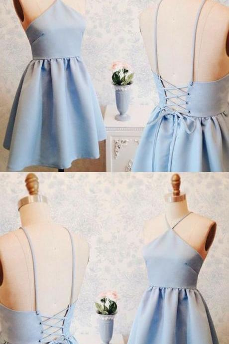 Blue Homecoming Dresses,short Homecoming Dresses,satin Homecoming Dresses on Luulla