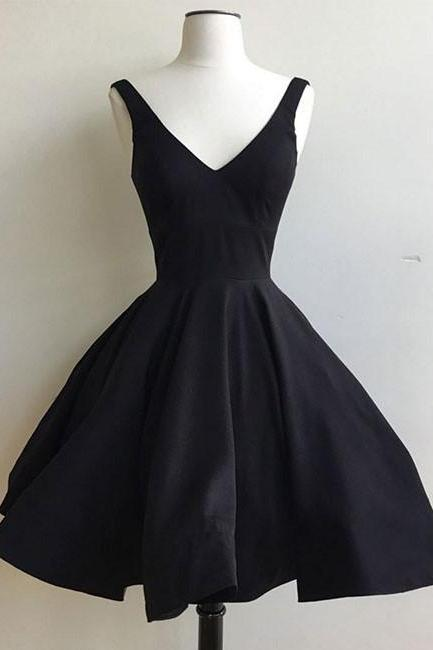 Sleeveless Homecoming Dresses Mini Prom Dresses Black Homecoming Dresses