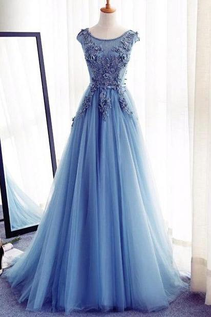 Applique Evening Dresses Lace-Up Homecoming Dresses