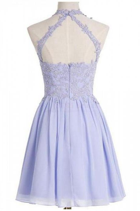 Lilac Prom Dresses open back Homecoming Dresses