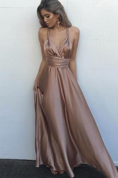 Floor Length Homecoming Dresses Sleeveless Prom Dresses