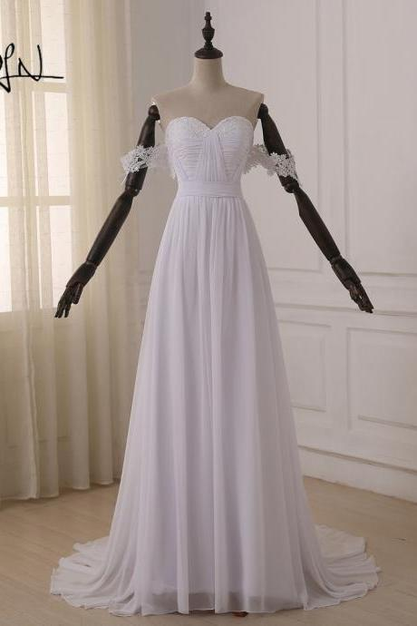 Off Shoulder Wedding Party Dresses White Wedding Dresses Lace Wedding Dresses