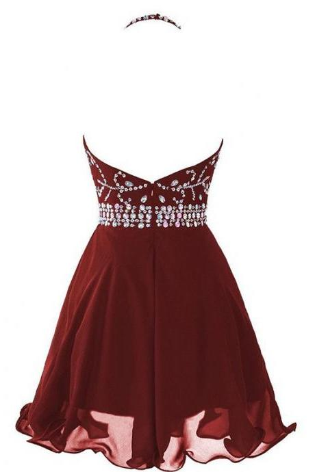 Above Knee Homecoming Dresses A lines Homecoming Dresses Rhinestone Homecoming Dresses