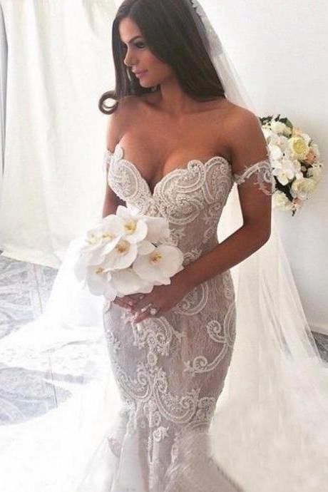 Chapel Wedding Dresses Off The Shoulder Wedding Dresses Lace Wedding Dresses