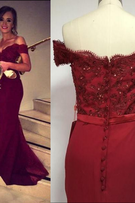Red Long Sweetheart A-line Satin Prom Dresses 2017