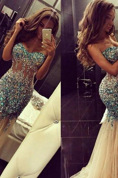 Cheap Prom Dresses 2017 Trumpet/Mermaid Sweetheart Tulle