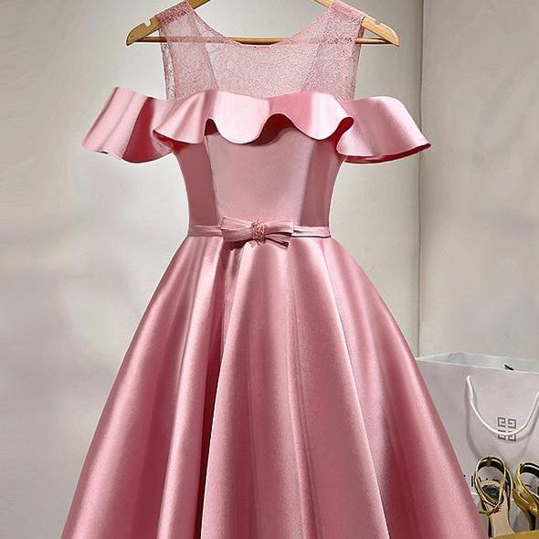 Pink Homecoming Dresses,Short Prom Dresses,Girls Cocktail Dress,Homecoming Dress,Graduation Dress,Cu on Luulla