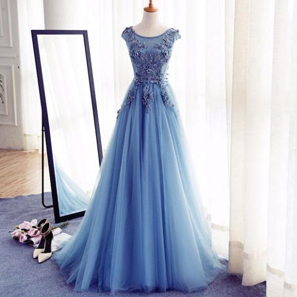 Appliques A-Line Prom Dresses,Long Prom Dresses 2017,Cheap Prom Dress, Evening Dresses Prom Gowns,Formal Women Dress,L82 on Storenvy