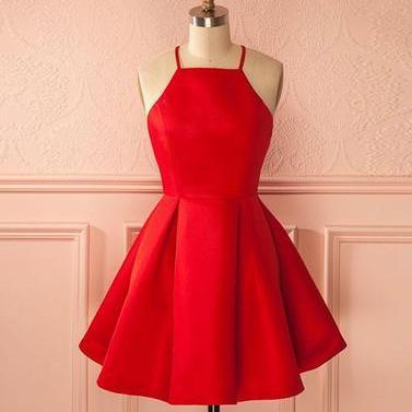 Short Straps Red Prom Dress Homecoming Dress on Storenvy