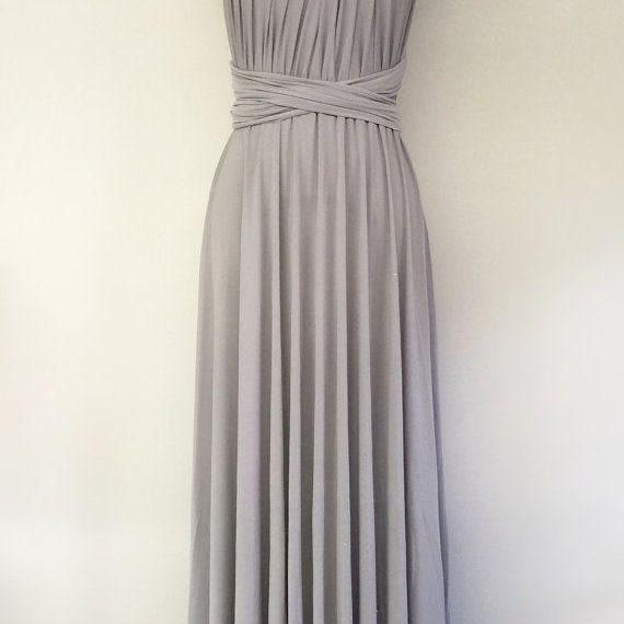Grey One-Shoulder Ruched A-line Floor-Length Bridesmaid Dress