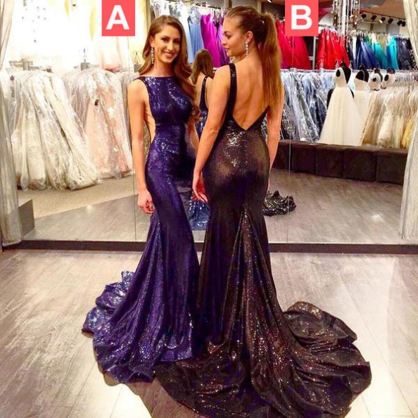 Trumpet/Mermaid Sleeveless Natural Zipper Floor-Length Sequined Prom Dresses 2017