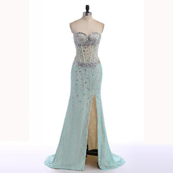 Cheap Prom Dresses 2017 Long Trumpet/Mermaid Sweetheart Lace